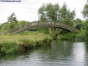 The wooden footbridge