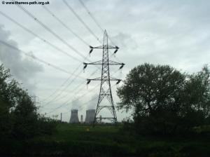 The power lines from Didcot Power Station