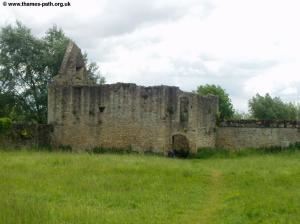 The remains of Godstow Abbey