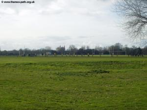 The playing fields of Home Park, with Eton behind