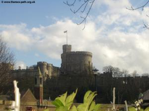 Windsor Castle - the Queen is in